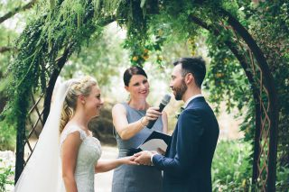 Garden weddings with Melbourne Marriage Celebrant Meriki Comito