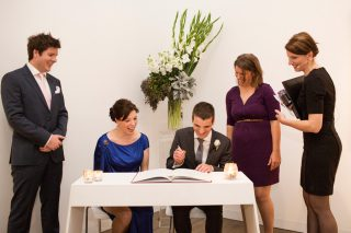 Art gallery Weddings with Melbourne Celebrant Meriki Comito