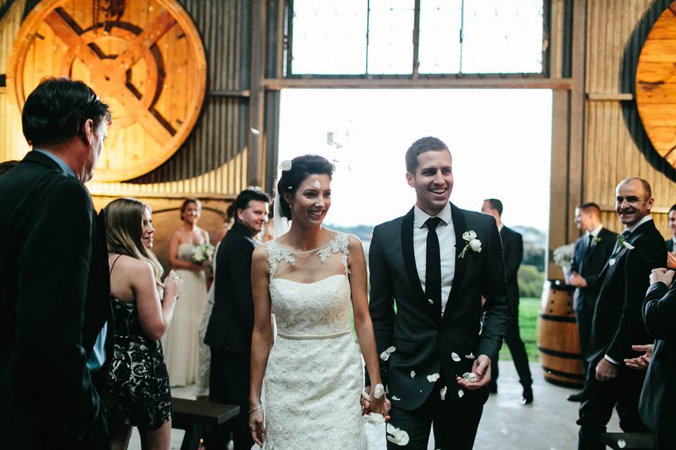 Melbourne Celebrant | Meriki Comito | Zonzo& Train Trak Wines Wedding | Photo by Hello Kimbo