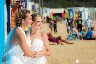 Same Sex Beach Weddings with Melbourne Marriage Celebrant Meriki Comito