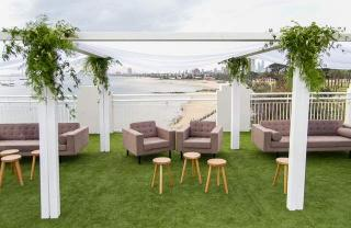 Beach weddings at the Royal Melbourne Yacht Squadron Harbour Room with Melbourne Marriage Celebrant Meriki Comito