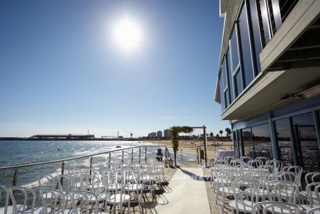 Beach Wedding at the Port Melbourne Yacht Club