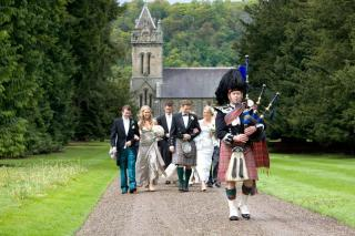 Bagpipers at Weddings with Melbourne Celebrant Meriki Comito