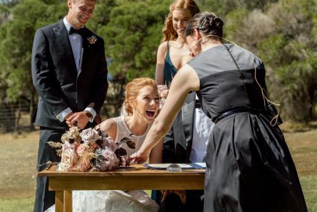 Terindah Estate Weddings with Melboutne Marriage Celebrant Meriki Comito