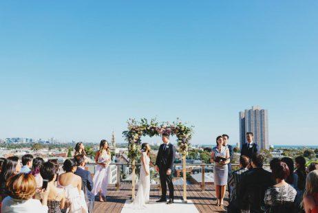 Luminare rooftop weddings with Melbourne Celebrant Meriki Comito