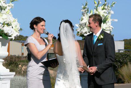 Torquay weddings with Melbourne Marriage Celebrant Meriki Comito