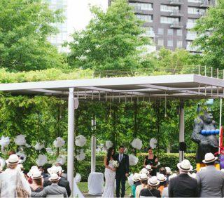 Art Gallery garden Weddings with Melbourne Celebrant Meriki Comito