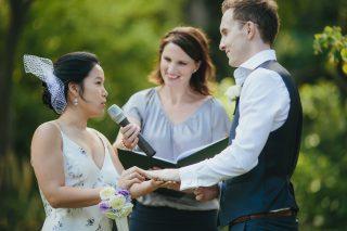 Fitzroy Garden weddings with Marriage Celebrant Melbourne Meriki Comito