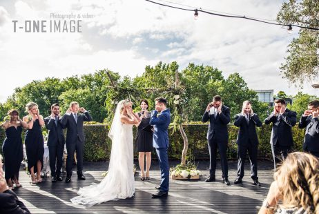 Melbourne celebrant Meriki Comito | Emily & Tom's Circa Wedding | Photo: T-One Images