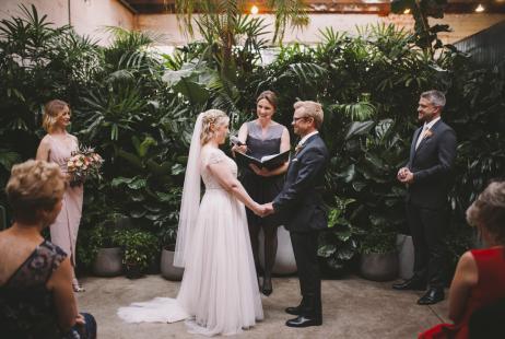 Glasshaus weddings with Melbourne Marriage Celebrant Meriki Comito