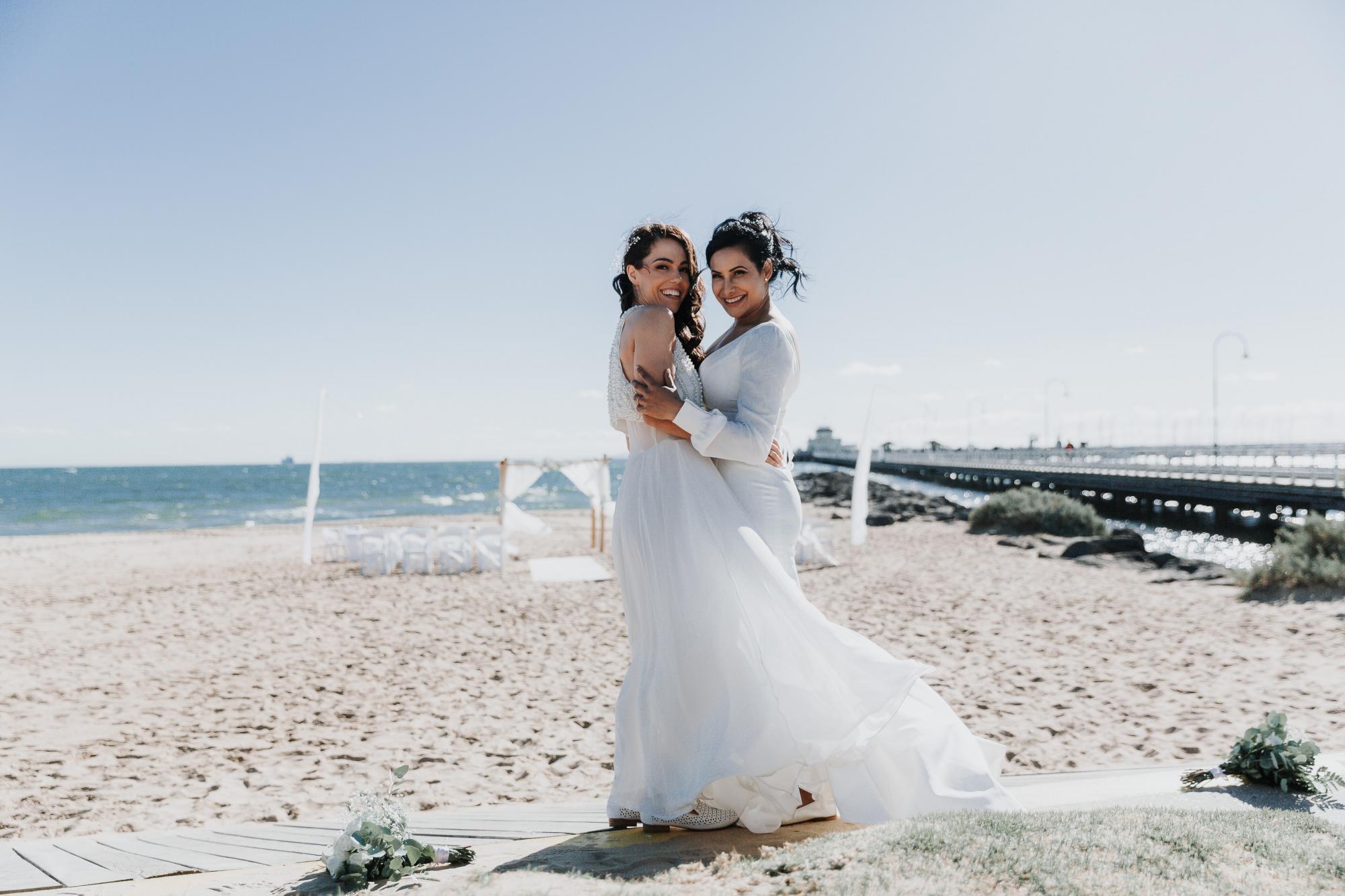 St Kilda Weddings with Melbourne Celebrant Meriki Comito