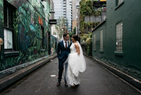 Melbourne Marriage Celebrant Meriki Comito | Erin + Dejan's Town Hall Wedding | Photo: Courtney Laura Photography