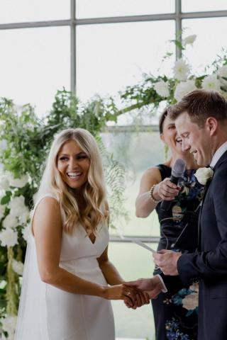 Greenfilds Albert Park Weddings with Melbourne Marriage Celebrant Meriki Comito