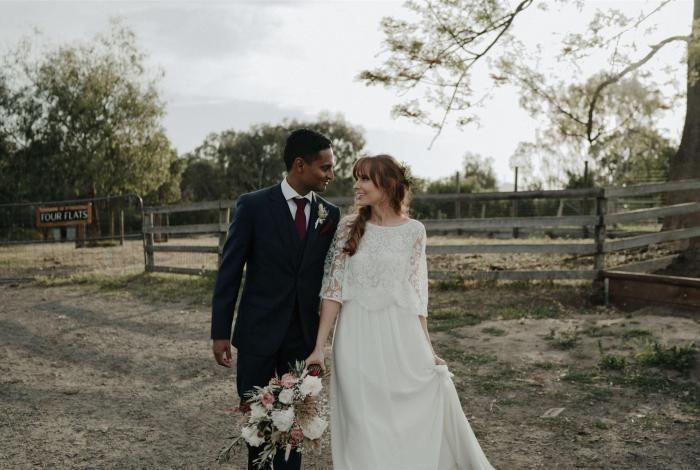 Melbourne Marriage Celebrant Meriki Comito | Steph + Rosh's Collingwood Children's Farm Wedding | Photo: Sarah Godenzi