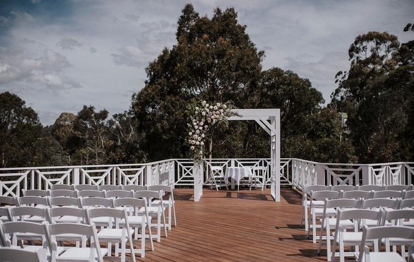 Bramleigh Estate wedding ceremony set up
