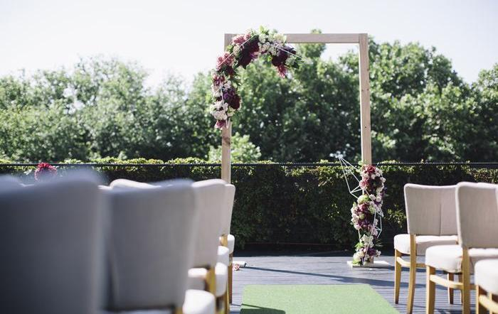 The Prince Deck, St Kilda wedding ceremony set up