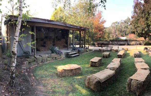 Gum Gully Farm wedding ceremony space