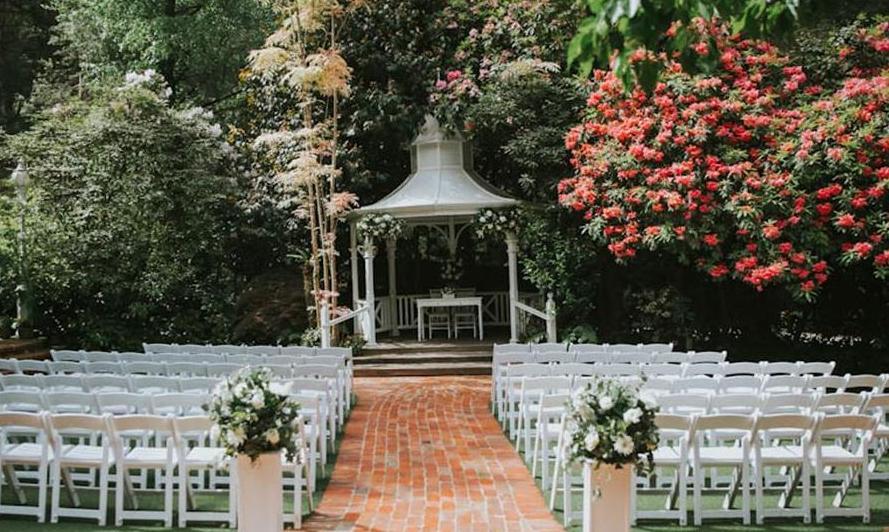 Lyrebird Falls wedding ceremony set up