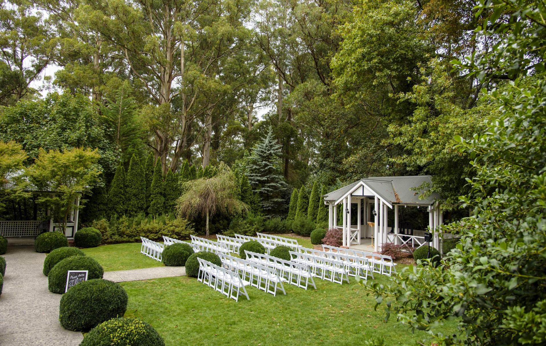 Marybrooke Manor wedding ceremony set up