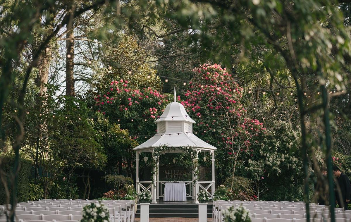 Poets Lane Sherbrooke wedding ceremony set up