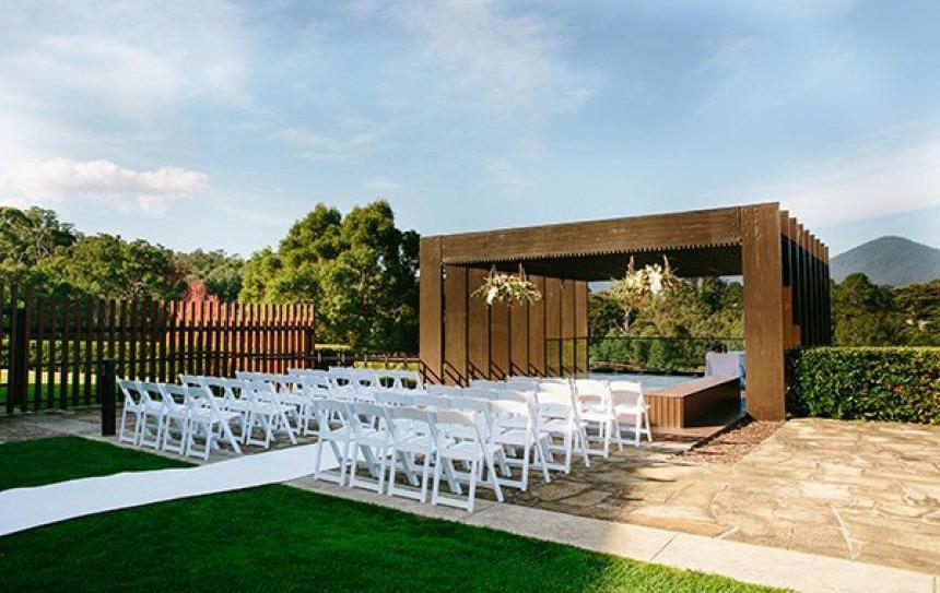 RACV Healesville outdoor wedding ceremony location