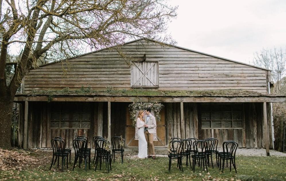 The Farm Yarra Valley outdoor wedding ceremony set up
