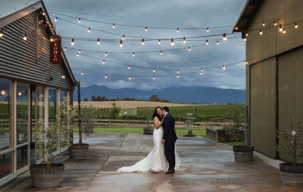 Zonzo estate outdoor wedding ceremony location